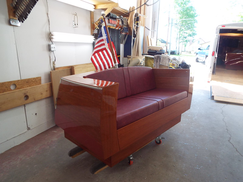 Starboard front view of the completed love seat. Also completed on 06/06/2020.