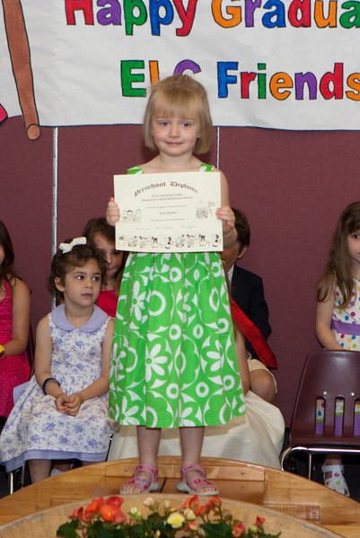 Abby receiving her diploma.