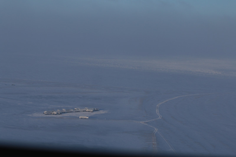 Tundra Lodge from the helicopter.