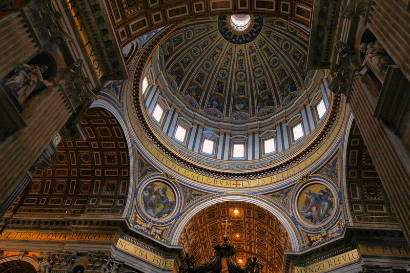 Huge dome of St. Peter's Basilica