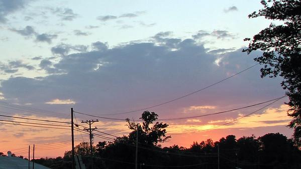 June 25, 2011:  A beautiful evening sky near Rayle, Georgia .  .  .