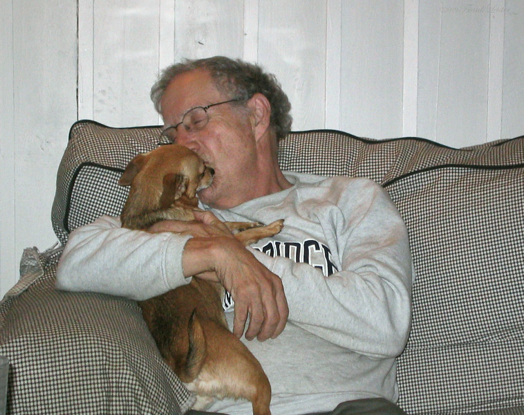 Larry Lebin and dogs, October 15 2005.
