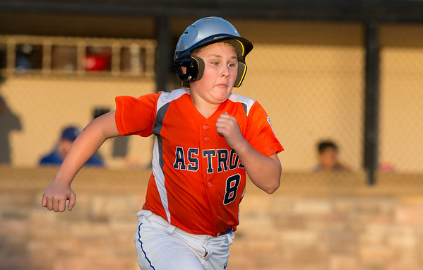 08/26/19 Wesley Bunnell | Staff The McCabe-Waters Astros defeated the Forrestville Dodgers 3-0 at Breen Field on Monday night in the city series to force a winner takes all on Wednesday. Joey John (8).