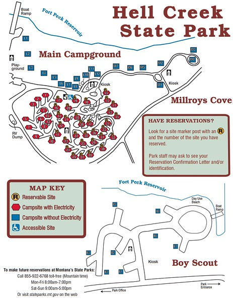 Hell Creek State Park (Campground Maps)