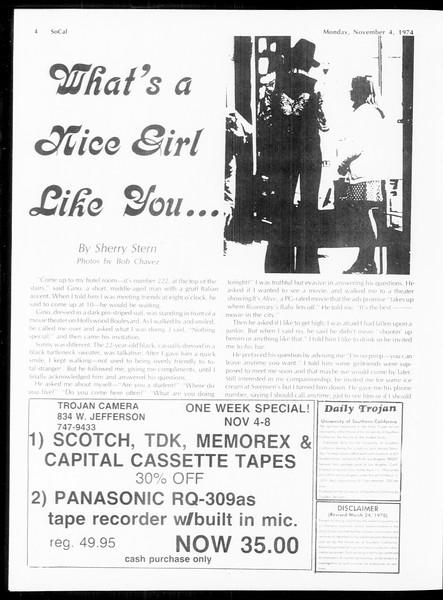 SoCal, Vol. 67, No. 35, November 04, 1974