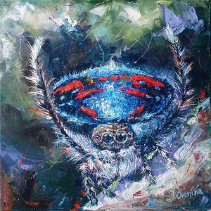 """""""Spider 1"""" (oil on canvas) by Kateryna Ivonina"""
