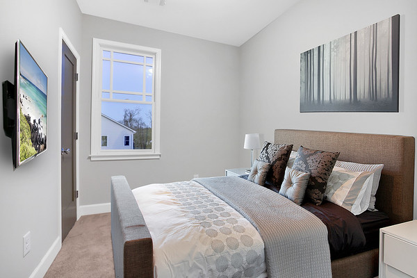 Virtual Staging Guest Room Other angle