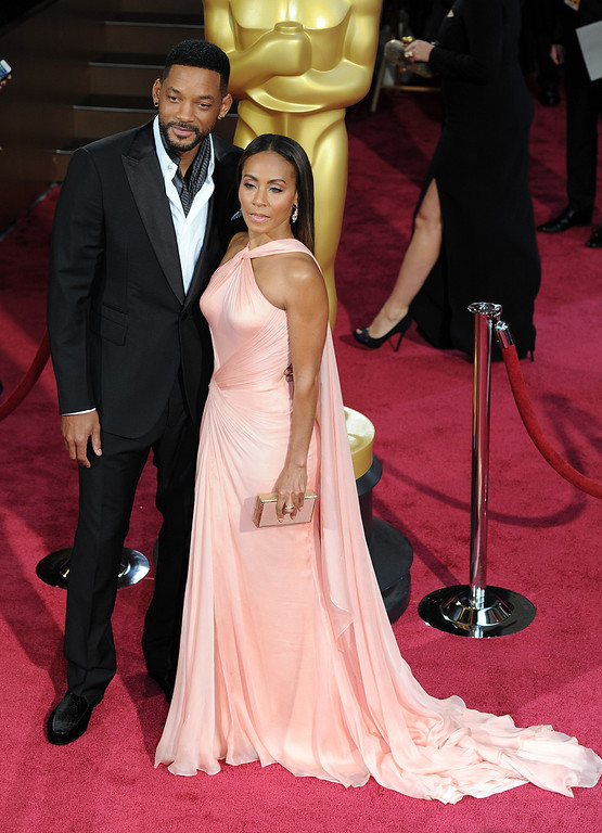 . Will Smith and Jada Pinkett Smith attend the 86th Academy Awards at the Dolby Theatre in Hollywood, California on Sunday March 2, 2014 (Photo by John McCoy / Los Angeles Daily News)