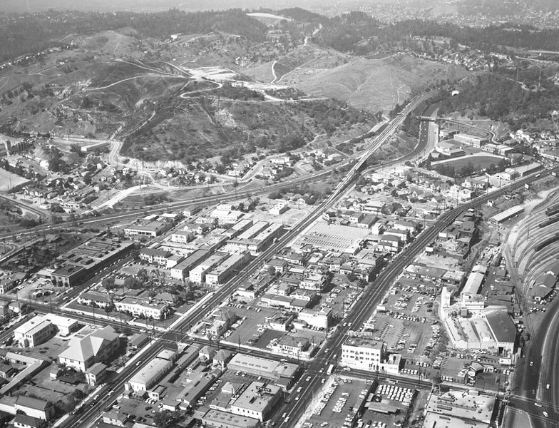 1957, Aerial before Dodger Stadium