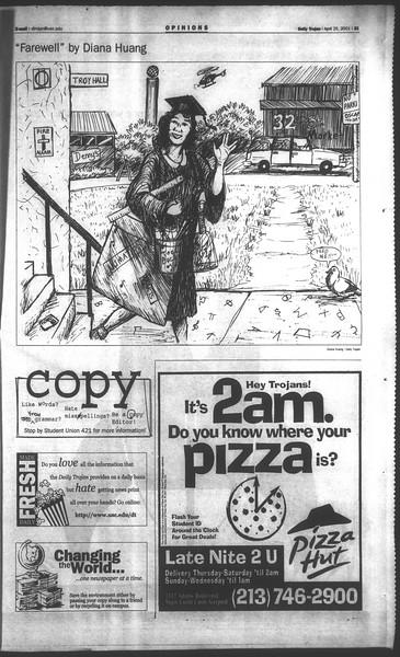 Daily Trojan, Vol. 142, No. 66, April 25, 2001