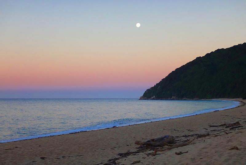 Sunset at Whariwharangi Bay