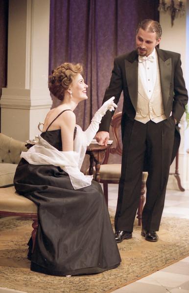 Rachel Sledd and John Plumpis in DIANA OF DOBSON'S by Cecily Hamilton  Photo: Richard Termine