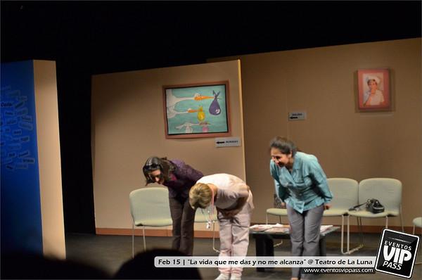 La vida que me das y no me alcanza @ Teatro de La Luna | Sat, Feb 15