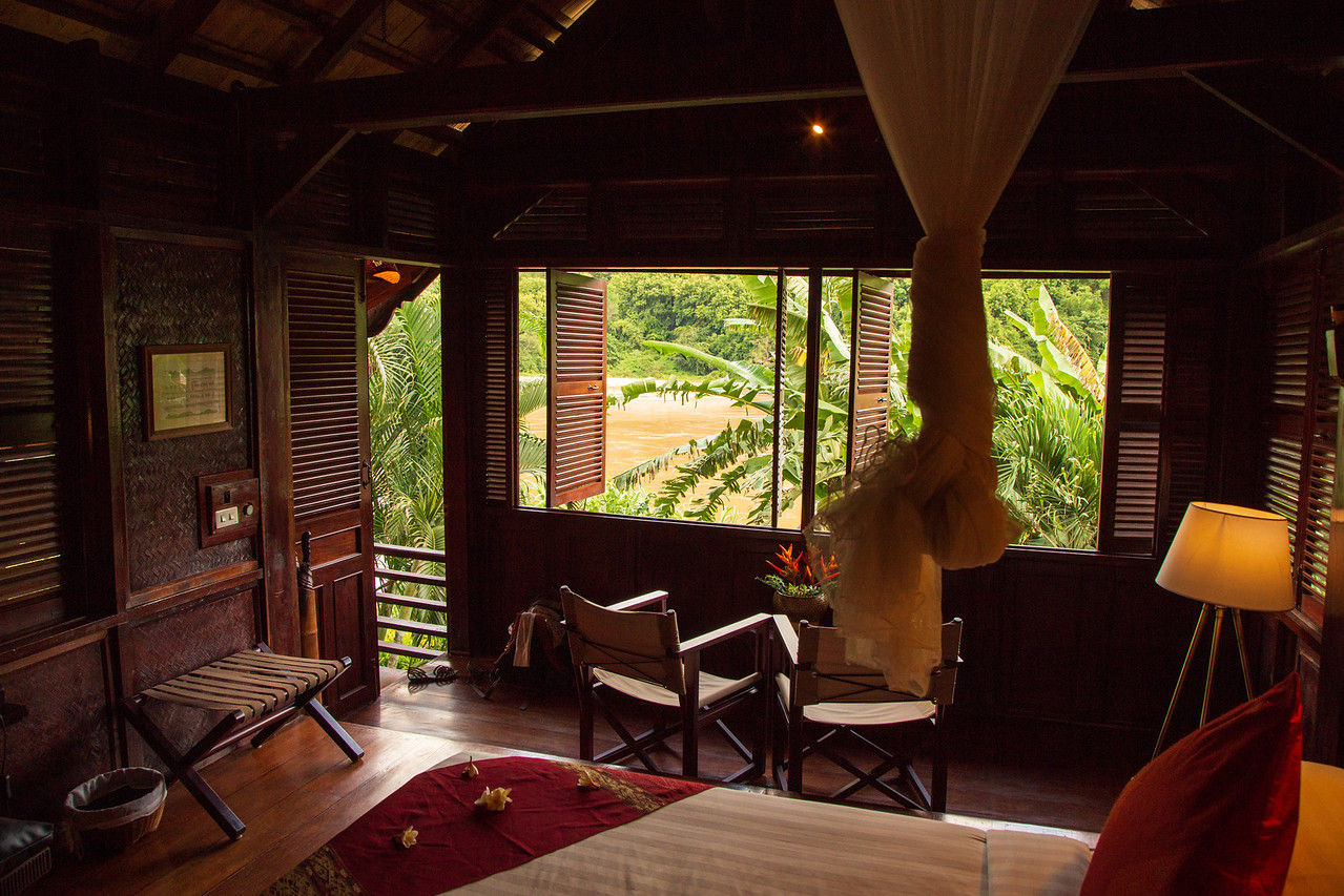 Interior of Our Room at Luang Say Lodge in Pakbeng, Laos