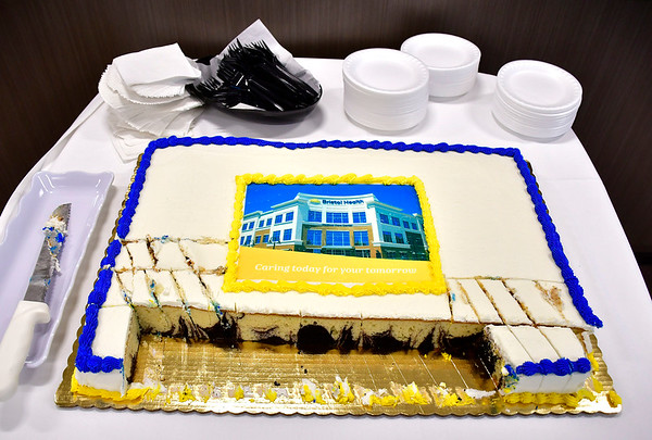 6/7/2019 Mike Orazzi | Staff Cake for Bristol Health's new downtown building on Friday.