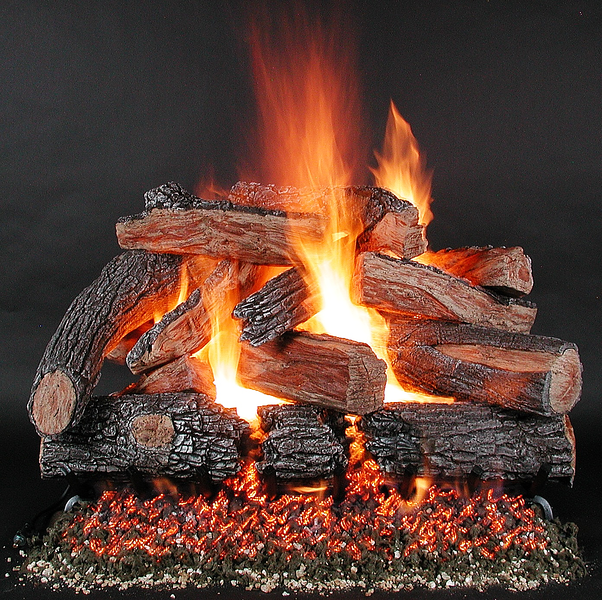 "36"" TimberFire Logs on LD36 Multi-burner."