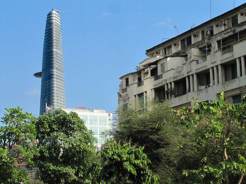 57-Bitexco Financial is a Vietnamese company. The 68-story tower rises over the city