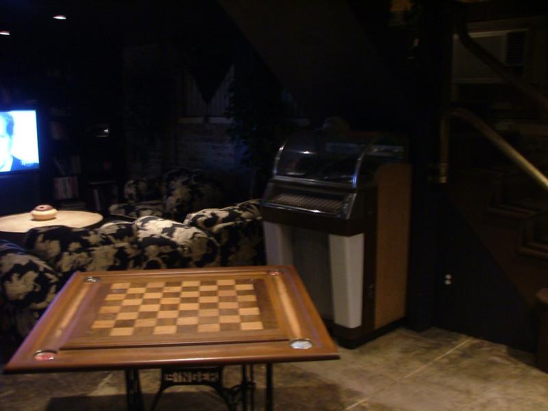 game table, juke box