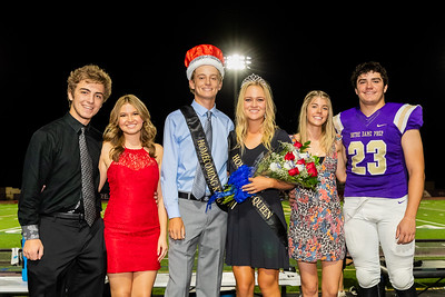 2018 Homecoming Ceremony at Halftime of McClintock game