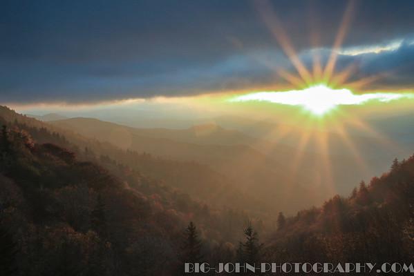 Smoky Mountains National Park Sunrise 10-25-13