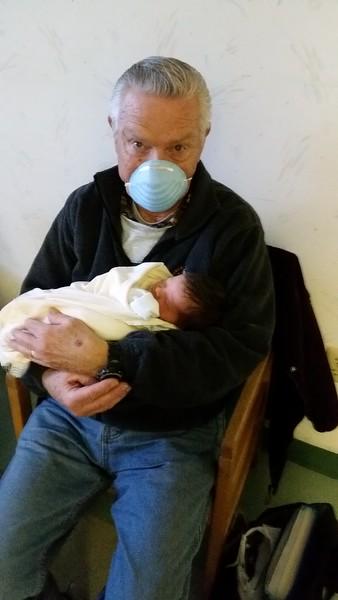 Papi had a cold.