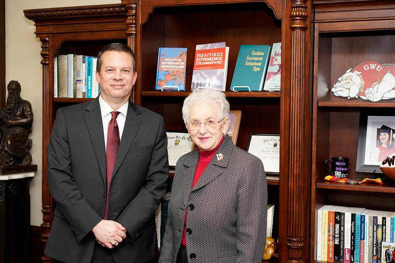 Dr. Downs and U.S. Representative Virginia Foxx