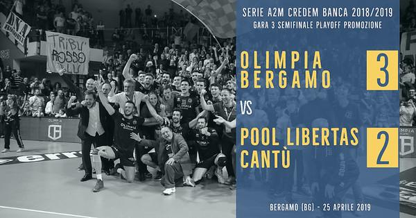 PO-Semi-Gara 3: Olimpia Bergamo - Pool Libertas Cantù