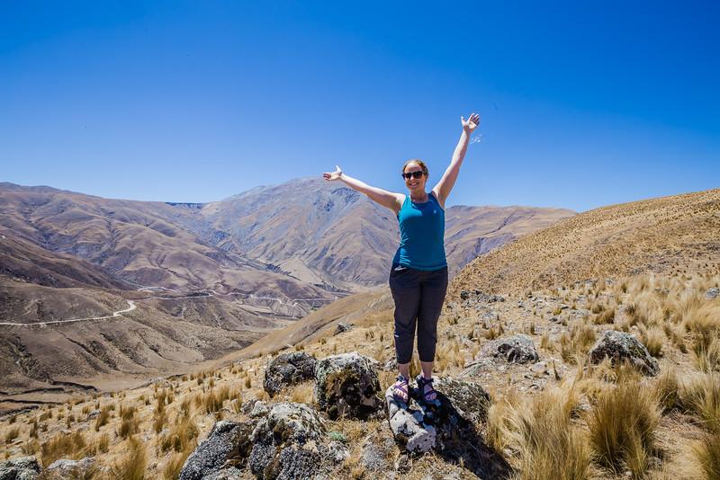 Lina Stock hiking in Salta Argentina