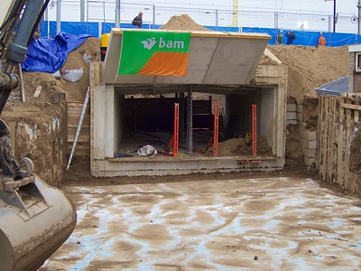 Honderden foto's maakte Van Dongeren van de tunnel Kostverloren.