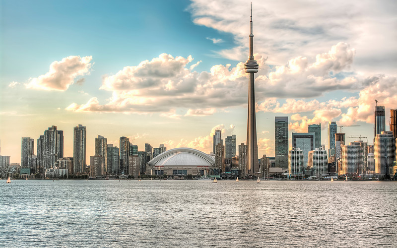 Toronto skyline from Centre Island.