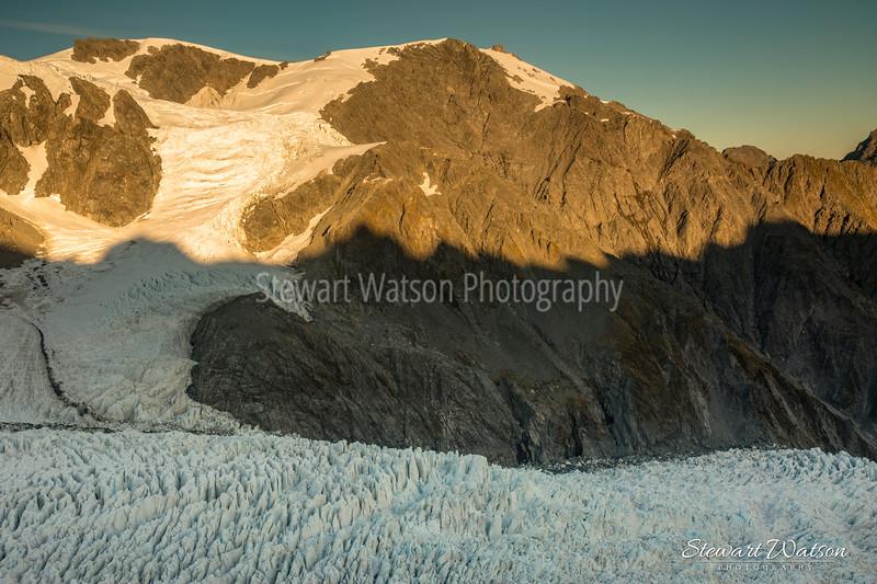 Franz Josef Glacier from the air