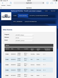 2019 Cannons NPYLL League