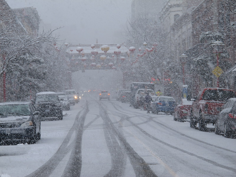 China Town in the Snow