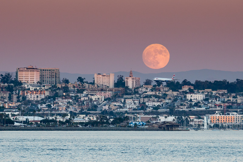 Super moon the day before