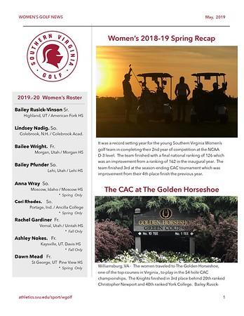 Newsletters - Women 18-19