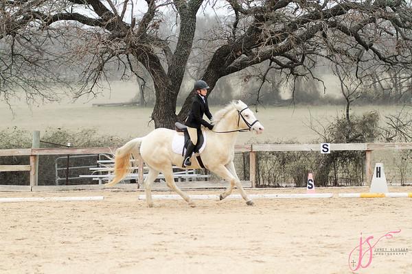 2-19-17 Hayden riding Casper at Quail Run Farm Horse Show