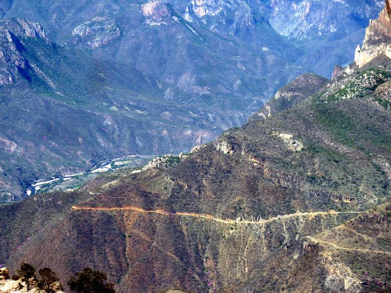 Descent and river near Urique.