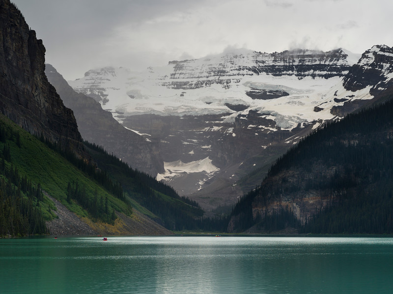 Lake Louise and Rocky Mountains, Banff National Park, Alberta, Canada