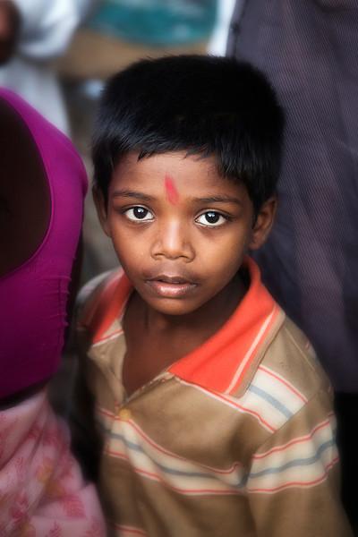 Young boy at market