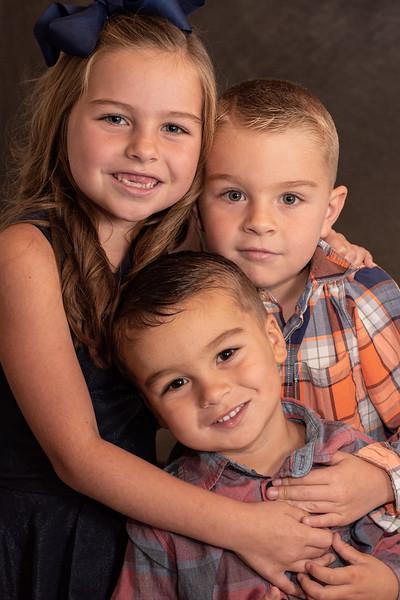 Ava, Garrett and Benjamin Clinton