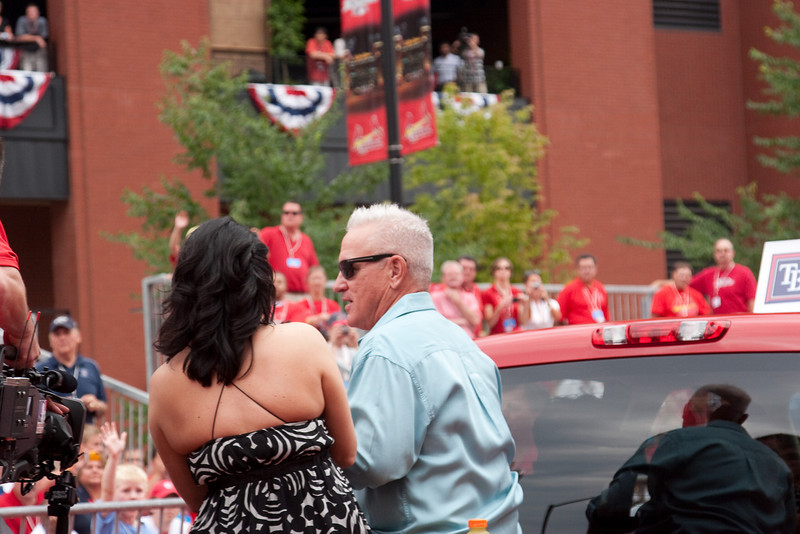 "Joe Maddon, Rays, manager A.L., 2009 MLB All Star Game ""Red Carpet Show"", St. Louis, MO"