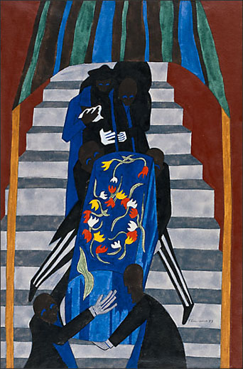 """Jacob Lawrence, """"The Undertakers Do a Good Business"""" (1943)"""