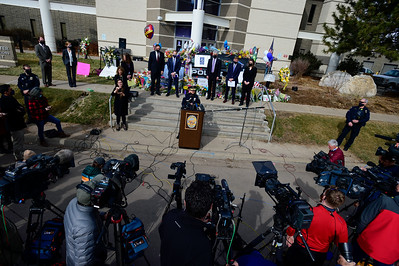 Photos: Boulder Police and District Attorney Update Reporters on Mass Shooting