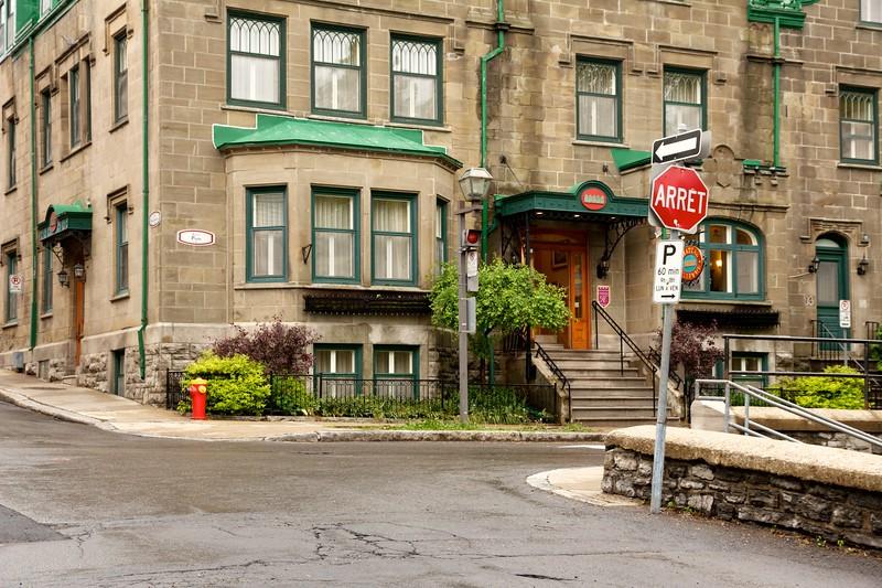 Intersection of Rue de la Porte and Avenue Saint Genoviéve. Quebec City, Canada
