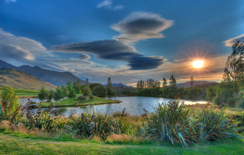 Sunset at Bendemeer Estates, the lenticular cloud formations that evening were epic!  Queenstown, New Zealand