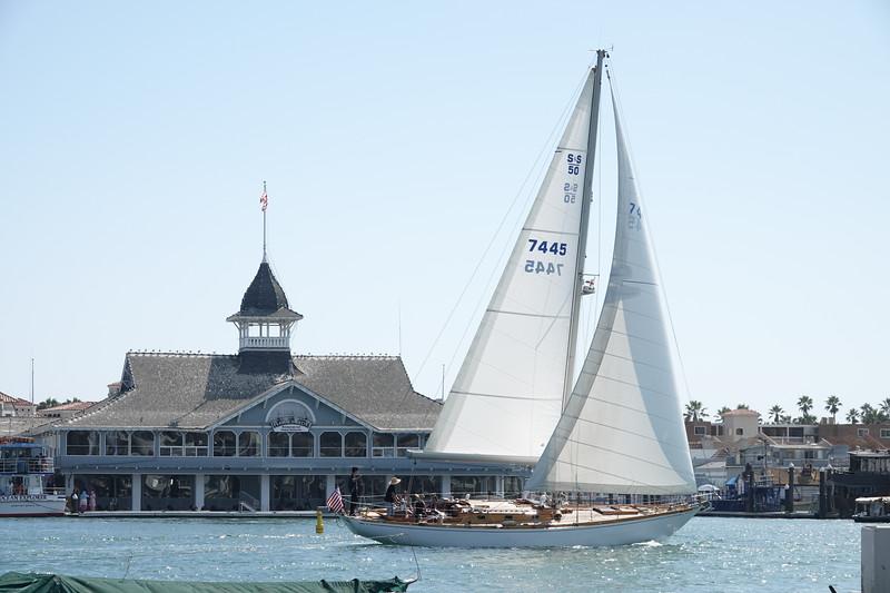 Sailing on Newport Harbor