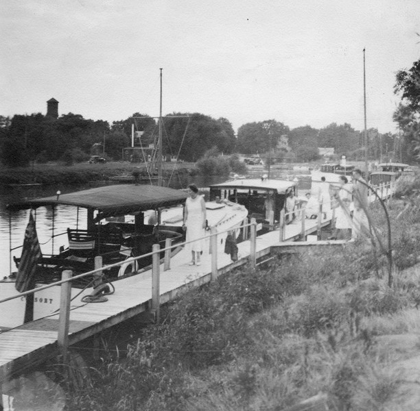 Southwest view of VYC docks, 1933