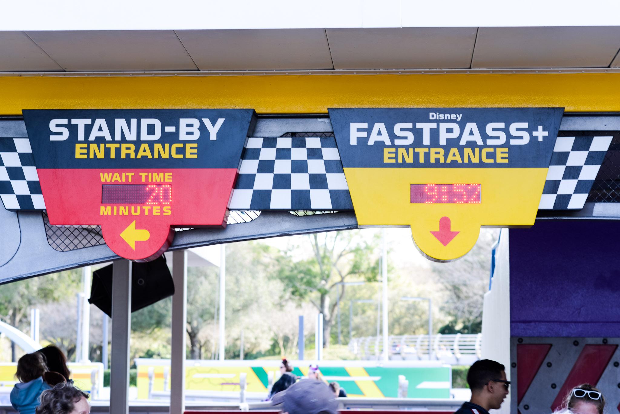 Speedway Wait - Walt Disney World Magic Kingdom