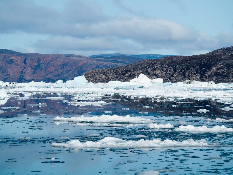 Approaching Eqi Glacier in Greenland
