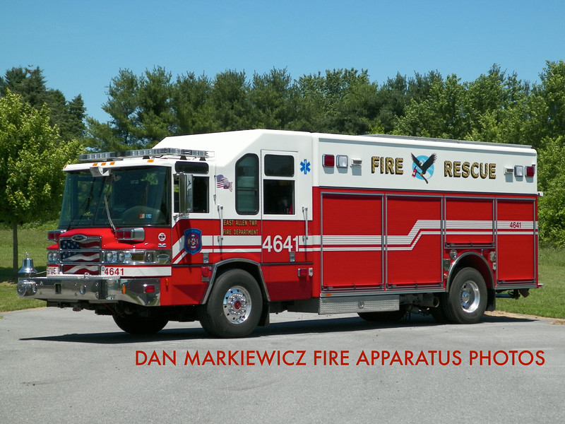 EAST ALLEN TOWNSHIP FIRE DEPT. RESCUE 4641 2008 PIERCE HEAVY RESCUE